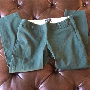 J. Crew Spruce Green Minnie Slim Crop Pants 8